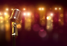 Free Microphone On Stage Stock Image - 63612601