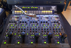Free Microphone On The Control Panel Stock Photography - 37994582