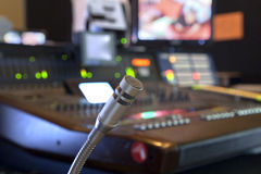 Free Microphone On The Control Panel Stock Image - 37994671
