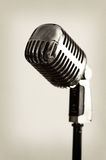 Microphone. One retro style microphone - isolated royalty free stock photo