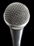 Microphone over black Stock Photos