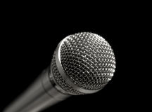 Microphone over black Stock Photography