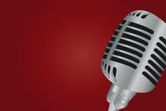 Microphone over gradient background Stock Photo