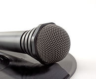 Microphone over vinyl Royalty Free Stock Image