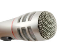 Microphone over white Stock Photos