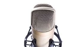 Microphone over white background Stock Photography