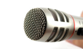 Microphone over white Royalty Free Stock Image