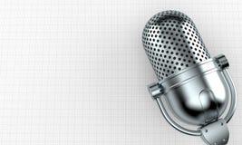 Microphone par radio illustration de vecteur