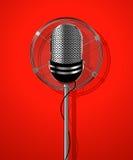 Microphone par radio classique Photos libres de droits
