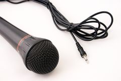Microphone and plug Stock Images