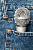Microphone in a pocket Stock Photography