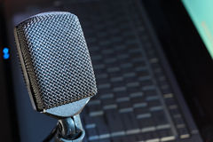 Microphone Podcast Photographie stock