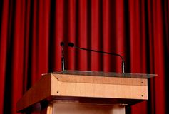 Microphone on the podium Royalty Free Stock Image