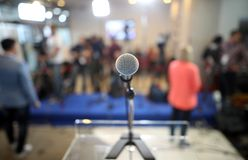 Microphone, politics press conference Royalty Free Stock Images