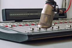 Microphone. Professional microphone in the studio Royalty Free Stock Photos