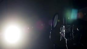 Microphone professionnel dans le studio Photographie stock libre de droits