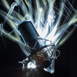 Microphone professionnel de studio Photos stock