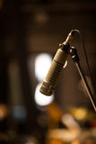 Microphone on a rack closeup royalty free stock photo