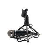 Microphone and a rack stand isolated Stock Photography