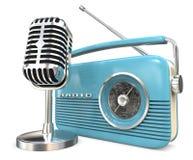 Microphone and Radio. Stock Photos