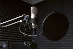 microphone in the radio Studio Royalty Free Stock Photography