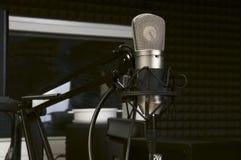 Microphone in the radio Studio Stock Images