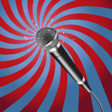 Microphone Rays vector. Microphone on a Rays Background vector Stock Photos