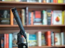 Free Microphone Ready To Present At A Book Store Royalty Free Stock Image - 111614896