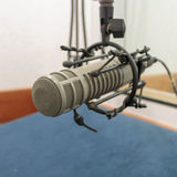 Microphone in recording room (photo 1:1) Stock Images