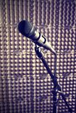 Microphone in a recording studio Stock Image