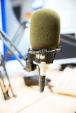 Microphone at recording studio or radio station Stock Photography