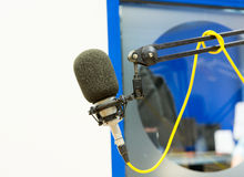 Microphone at recording studio or radio station Stock Photo