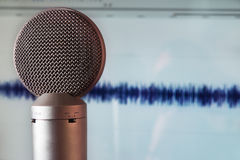 Microphone in recording studio Royalty Free Stock Photography