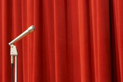 Microphone on red Stock Photography