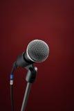microphone red Arkivbild