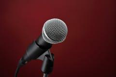 microphone red Royaltyfri Fotografi