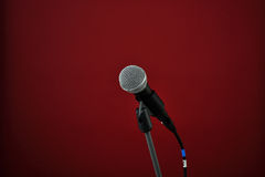 Microphone on red royalty free stock image