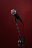 Microphone on red royalty free stock photos