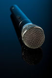 Microphone with reflection Royalty Free Stock Image