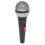 Microphone. Render on a white background Royalty Free Stock Photography