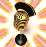 microphone retro Στοκ Εικόνα