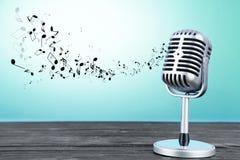 microphone retro στοκ φωτογραφίες με δικαίωμα ελεύθερης χρήσης