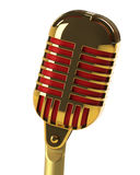 Microphone retro isolated on black Royalty Free Stock Images