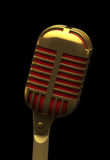 Microphone retro isolated on black Stock Image