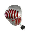 Microphone retro style on a white background Royalty Free Stock Photo