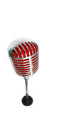Microphone retro style on a white background Royalty Free Stock Photos