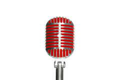 Microphone retro style on a white background Stock Photo