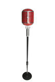 Microphone retro style on a white background Stock Photography