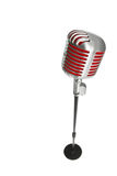 Microphone retro style on a white background Royalty Free Stock Image