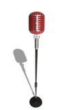 Microphone retro style on a white background Stock Photos